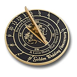 Personalised Wedding & Anniversary Sundial Gift Handmade In England By The Metal Foundry Ltd.
