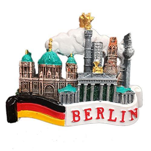 (Fridge Magnet Berlin Germany 3D Resin Handmade Craft Tourist Travel City Souvenir Collection Letter Refrigerator)