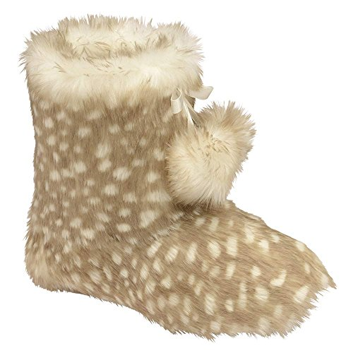 Dunlop Brianna Womens Nordic Boot Slippers JAC BEIGE 25Tl9I