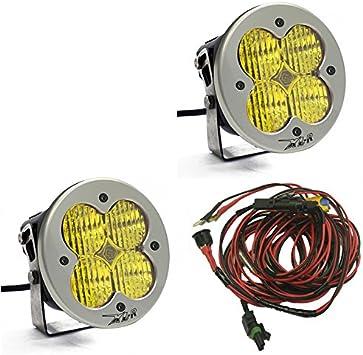 Pair Baja Designs 57-7815 XL-R Sport Amber Wide Cornering Light Bar