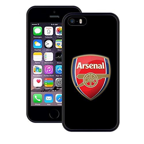 Arsenal   Handgefertigt   iPhone 5 5s SE   Schwarze TPU Hülle