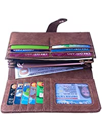 Women's Vegan Leather Credit Card Holder Wallet Large Capacity Long Bifold Checkbook Wallet