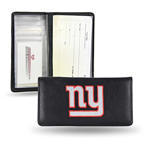 NFL New York Giants Embroidered Genuine Cowhide Leather Checkbook Cover