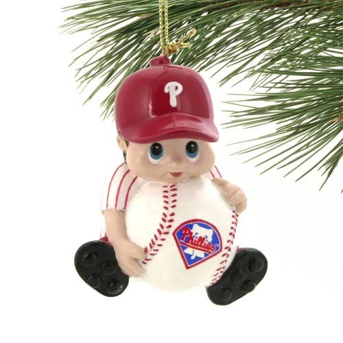 Phillies Player Mlb (MLB Philadelphia Phillies Lil' Fan Baseball Player Acrylic Ornament)
