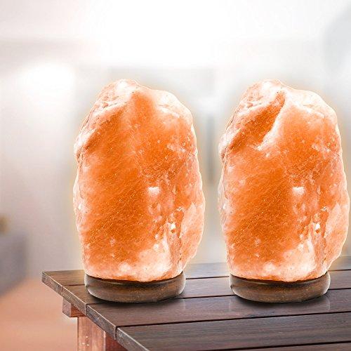2 Pack Natural Crystal Himalayan Salt Lamp, Himalayan Glow H