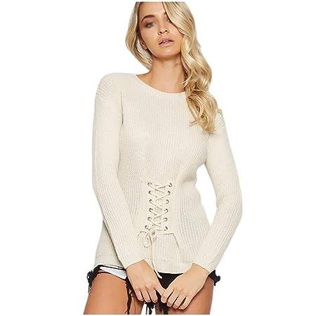 jersey Mujer Suéter Sudadera Slim Fit Sección Media Larga Suave ...