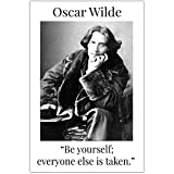 Oscar Wilde Be Yourself Quote Wall Art Classroom Décor Poster