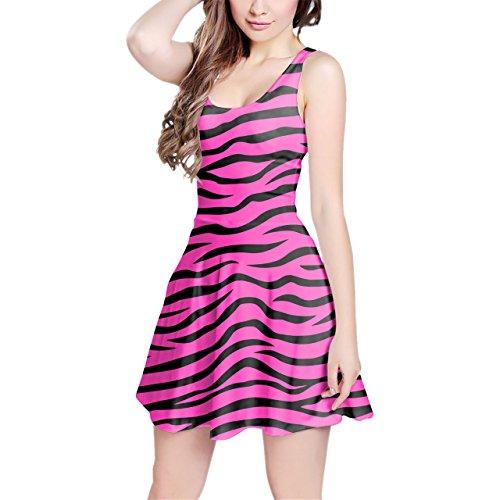 Zebra Print Sleeveless Dress - 6