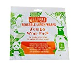 Reusable Food Wraps and Food Storage (Jumbo, 3 Pack) Recyclable, Sustainable, Eco Friendly Lunch Box Bags, Bowl Cover Sheets - food safe, beeswax free. Unique Stocking Stuffer!