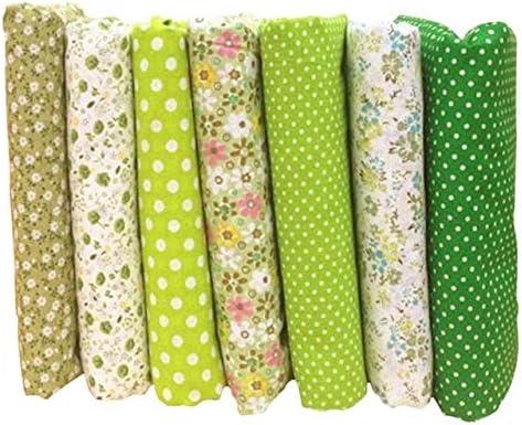 LSWL 7pcs / Lot Nueva Serie Floral de la Tela Cruzada de la Tela de algodón, Remiendo