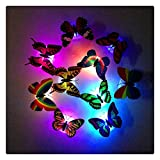 Kanzd Colorful Changing Butterfly LED Night Light Lamp Home Room Party Desk Wall Decor (A)