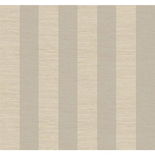 Cream Manor (York Wallcoverings GG4704 Gentle Manor 3-Inch Stripe Wallpaper, Soft Silver Pearl Metallic/Lacey Cream/Linen Beige by York Wallcoverings)