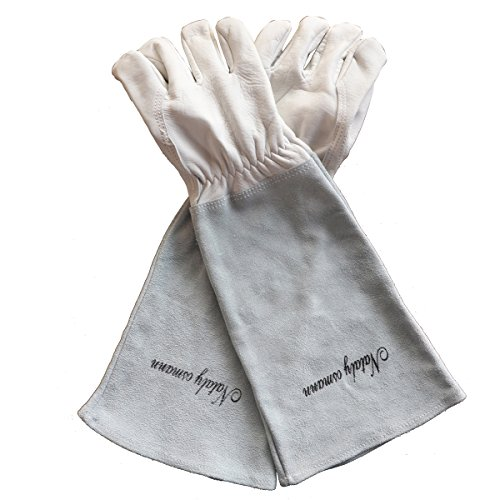 Sportmars Rose Pruning Gloves for Men and Women Cowhide Leather Gardening Gloves Protect Your Arms Until the Elbow