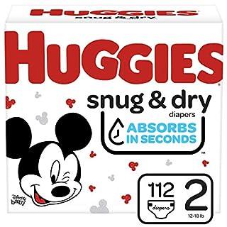 Huggies Snug & Dry Baby Diapers, Size 2, 112 Ct
