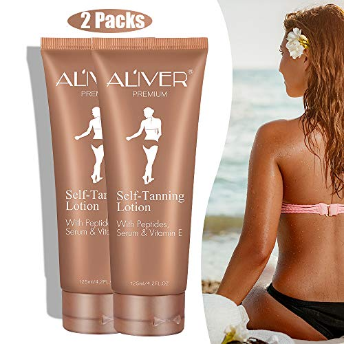 Self Tanner, Self Tanning Lotion, Sunless Tanning Lotion for Flawless Darker Bronzer and Moisture Skin, Self Tanning Lotion - Self Tanners, Fake Tan Lotion ()