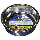 Loving Pets Bella Bowl Designer & Expressions Dog Bowl, Medium, I Love My Dog, Steel Blue