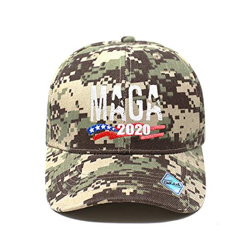 MAGA Hat Make America Great Again Baseball Trucker Hat (Unisex) | Trump Rally Campaign (MAGA Ball Cap Desert Camo x1)