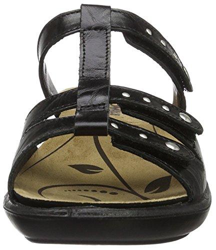 Romika Ibiza 75, Women's Open Toe Sandals Schwarz (Schwarz)