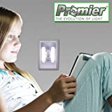 Lot of 12 Promier® LIGHT-SWITCH Battery Operated Cordless Light Using Super Bright COB LED Technology for Baby Nursery, Hallways, Bedrooms, Closets, RV's. No Wiring-Batteries Included - 12 pack