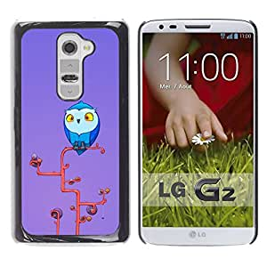 Paccase / Hard Protective Case Cover for - Cute Owl - LG G2 D800 D802 D802TA D803 VS980 LS980