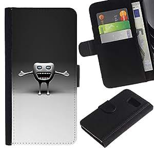 All Phone Most Case / Oferta Especial Cáscara Funda de cuero Monedero Cubierta de proteccion Caso / Wallet Case for Sony Xperia Z3 Compact // Funny Tooth
