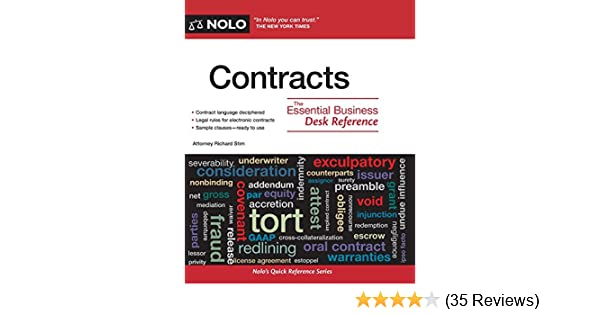 Contracts The Essential Business Desk Reference Richard Stim