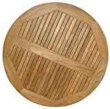 ATC Teak Round Table Top, 30'' D