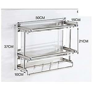 No perforadas toallero estante de toalla estanter a de for Estanteria bano amazon