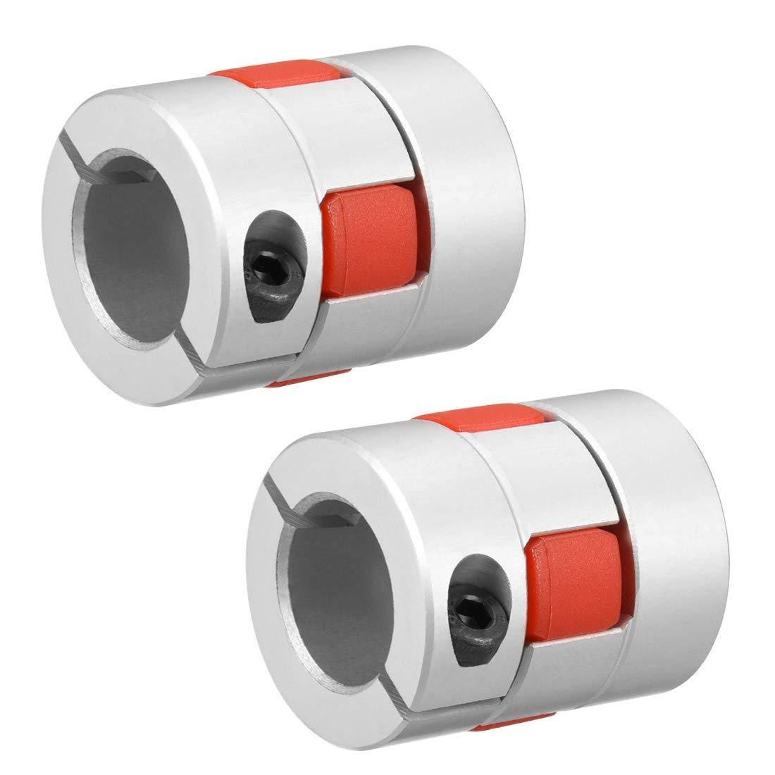Sourcingmap 2 piezas eje acoplamiento 16 mm a 16 mm calibre L35 x D30 Flexible acoplador Junta para Servo Stepped Motor