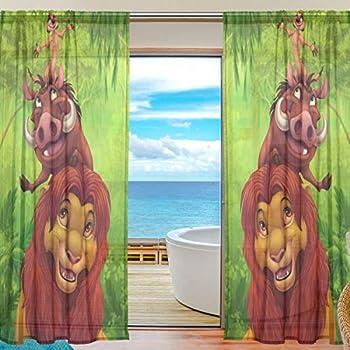 Amazon.com: Linen Curtains Disney's The Lion King Print
