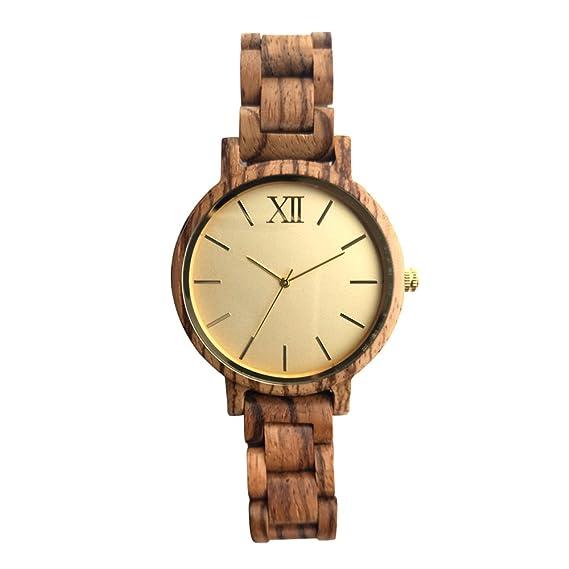 woodfan madera muñeca relojes para hombres o mujeres – madera reloj banda/ madera Bisel/