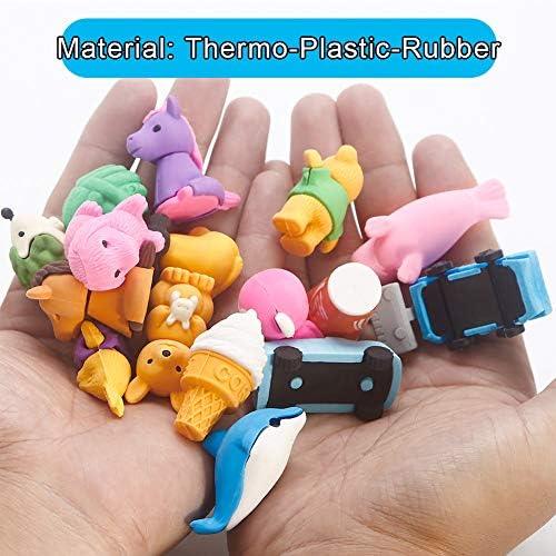 Aliments gommes /à Crayon en Caoutchouc Mignonnes Sacs de f/ête color/és pour Enfants 40 gommes ThinkMax Gommes pour Animaux l/égumes et v/éhicules