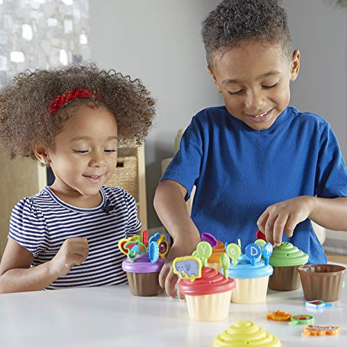 51i5nznp%2B1L - Learning Resources ABC Cupcake Party Toppers, Early Alphabet Learning, Vocabulary Toy, Ages 3+