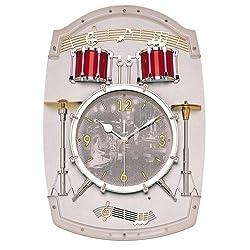 Rhythm Beat Drum Set Musical Wall Clock
