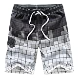 Men's Swimming Trunks with Pockets Breathable Mesh Liner Beach Shorts Polyester Water Sportswear