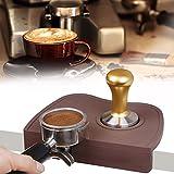 Coffee Tamper Mat, Large Size Silicone Corner Tamping Mat Pad Tool Espresso Tamper Mat Coffee Tamper Station Anti-Slip Pad Barista Tamp Pad Tool (Coffee)