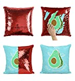 Holy Guacamole P50 Sequin Pillow, Sequin Pillowcase, Funny Pillow, Two color pillow, Present Pillow, Gift her, Gift him, Magic Pillow, [Cover Only]