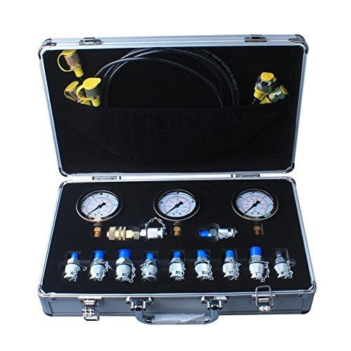 DUSICHIN DUS-900 Excavator Hydraulic Pressure Test Kit, Hydraulic Tester, Pressure Test Guage Coupling 9000 PSI by DUSICHIN (Image #1)