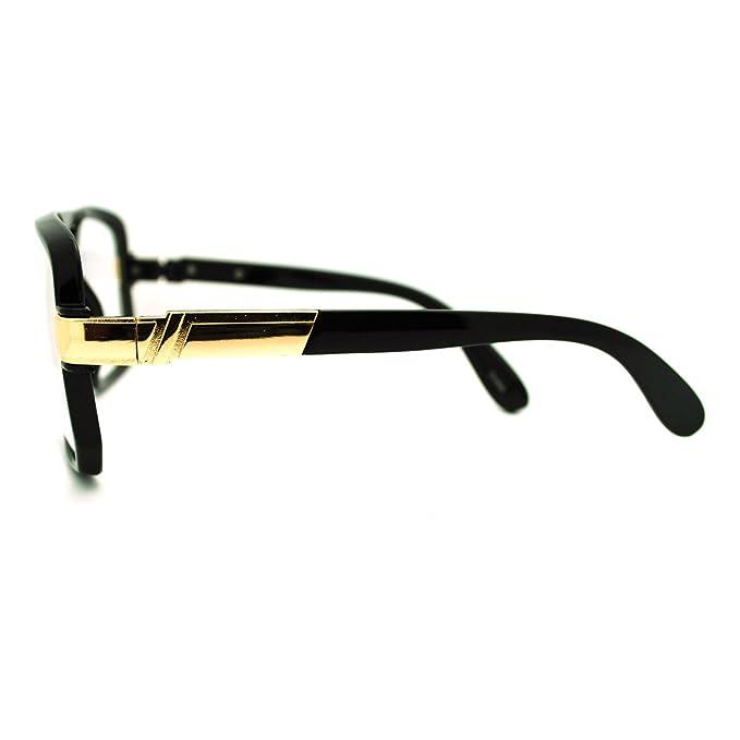 f4bb3d53bf7f Geeky Oversized Gazelle Eye Glasses Sunglasses - Black Gold  Amazon.co.uk   Clothing