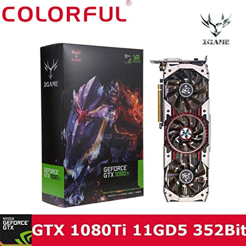64mb Dvi Video Cards (Livoty Colorful iGame GTX1080Ti Vulcan AD 11GB Video Graphics Card 1594/1708MHz forNIER By DHL Fedex (Black))