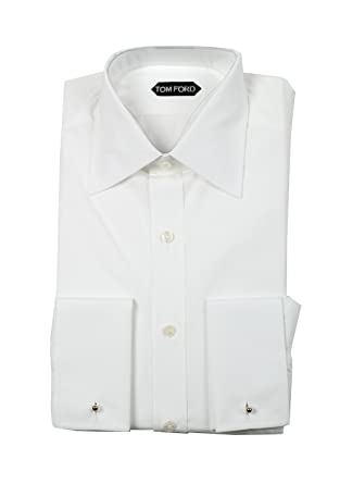 836c7a5cdf3c CL - Tom Ford Solid White Dress Shirt Size 43/17 U.S. Slim Fit ...