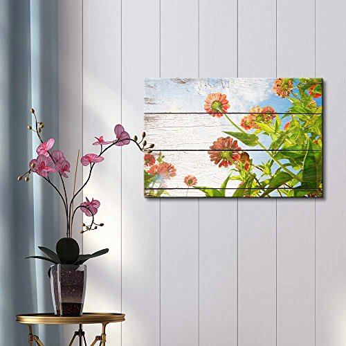 Bright Yellow Flower on Farm 16x24 inches Wall26 Canvas Art Home Decor