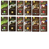 Endangered Variety Pack 6 Flavors (Pack of 12) (Dark Choc with Lemon , Dark Choc w Sea Salt & Almonds, Dark Choc w Cherry, Rain Forest Dark Mint, Wolf Dark Choc w Cranberry Almond, 48% Milk Choc)