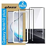 Amuoc Compatible with Samsung Galaxy Note 10 Plus Screen Protector, Fully Adhesive 3D Curved Tempered Glass Film for Samsung Galaxy Note 10 Plus, 2-Pack HD Clear