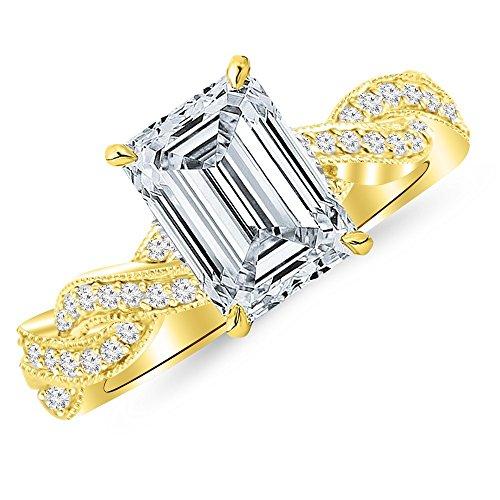 0.68 Ct Emerald Cut Diamond - 4