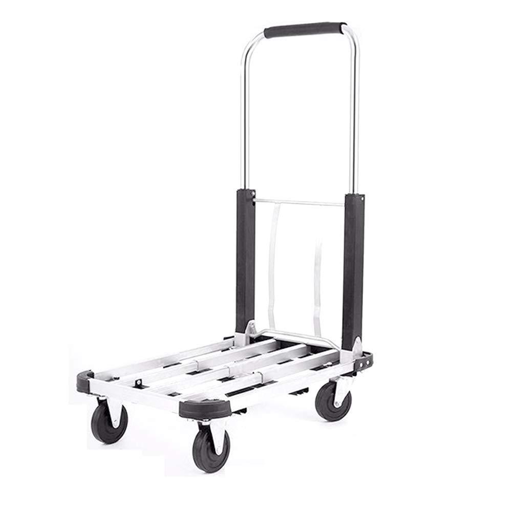 YONGYONG Portable Grand Alliage D'aluminium Charger Roi Petit Chariot De Traction, Pliable, Portable Panier De Voyage Portable Remorque (Couleur : Gray)