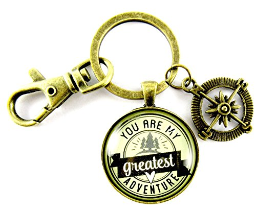 You are My Greatest Adventure Love Key Chain, 1.20