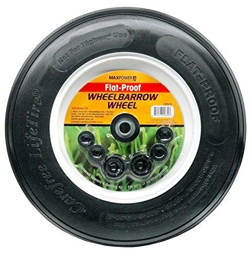 Max Power 335270 No Flat Ribbed Wheelbarrow Wheel