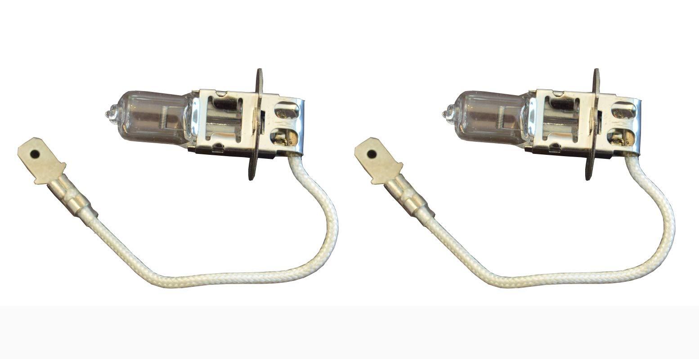 2pcs 12V 55W H3 RS22 Replacement Bulb for A DEC Performer - Ampco Contender - Belmont BLC BLPW BLT BLU Belmont D-Lux AL 701M 702M 705M 711M Sco System Operatory Lamp X-Calibur - Osram Sylvania 64651 L