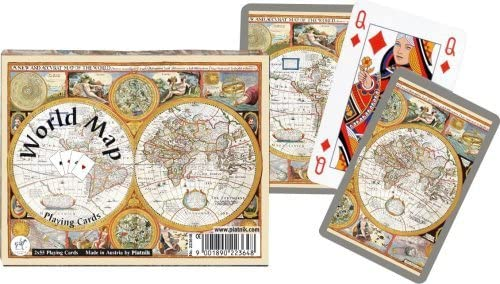 Piatnik Old World Map Playing Cards
